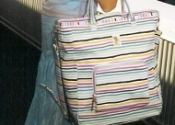 Bucket bag in Stripe