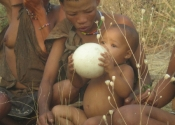 Bush people in Botswana, Africa