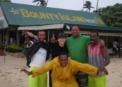 Hanging with the boys in Fiji
