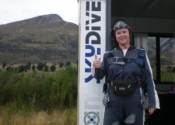 Sky dive in New Zealand